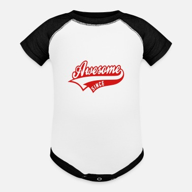 Since Awesome since - Baseball Baby Bodysuit