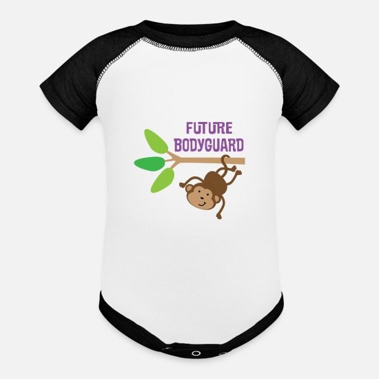 Career Baby Clothing - Future Bodyguard Childs - Baseball Baby Bodysuit white/black