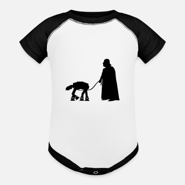 Vader Walking my AT-AT - Baseball Baby Bodysuit
