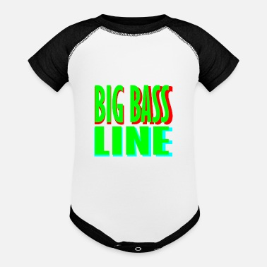 Line big bass line line - Baseball Baby Bodysuit