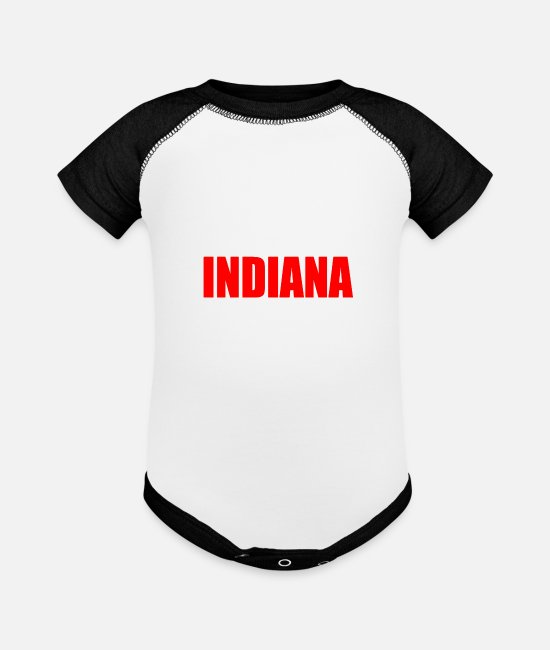 South Pole Baby One Pieces - INDIANA - Baseball Baby Bodysuit white/black