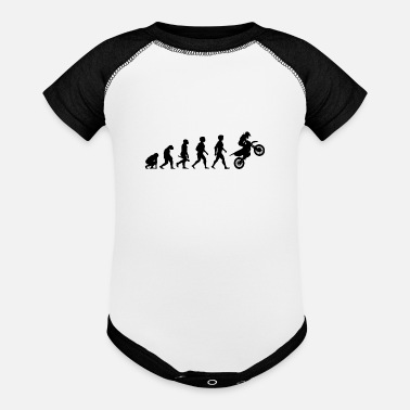 Motor Evolution Motocross Motorcycles Motorcyclist - Baseball Baby Bodysuit