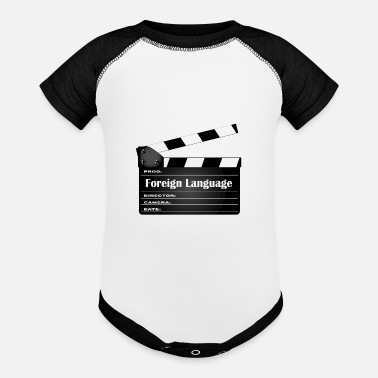 Foreign Word Foreign Language Movie Clapperboard - Baseball Baby Bodysuit