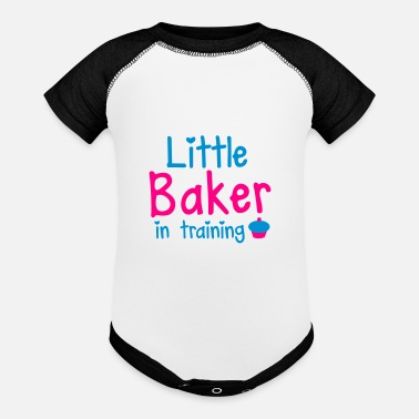 Training little baker in training with a cute cupcake - Baseball Baby Bodysuit