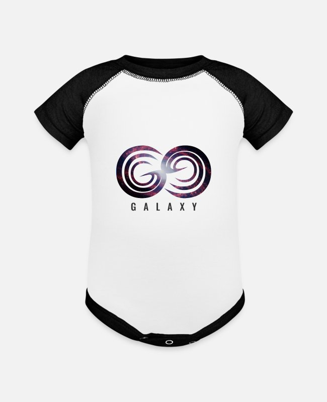 Galaxy Baby One Pieces - Infinite Galaxy - Baseball Baby Bodysuit white/black