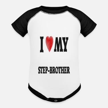 Step Brothers I Love My Step Brother - Baby Contrast One Piece