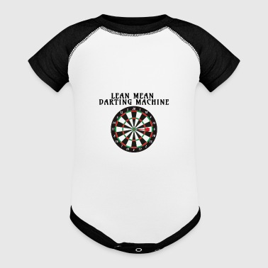 Darts Darting Machine Darts Lover - Baby Contrast One Piece