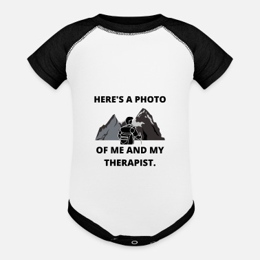 Extreme Sports HIKING PHOTO ME AND THERAPIST FUN QUOTE GIFT IDEA - Baseball Baby Bodysuit
