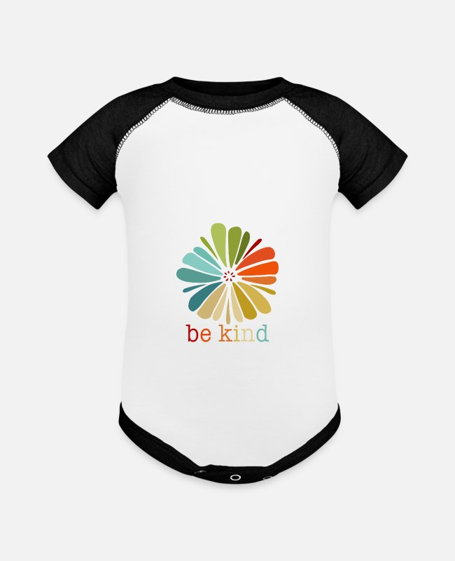Choose Kind Baby One Pieces - be kind - Baseball Baby Bodysuit white/black