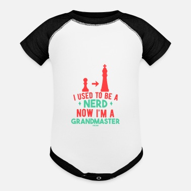 Springer I Used To Be A Nerd Now I'm A Grand Master - Baseball Baby Bodysuit