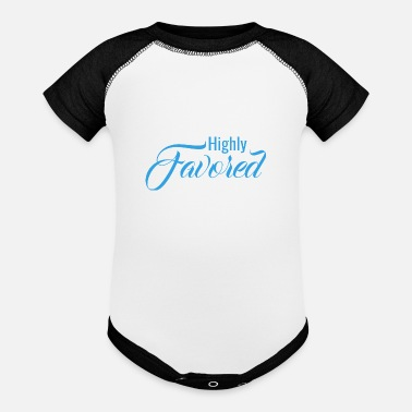 Favor Highly Favored - Baseball Baby Bodysuit