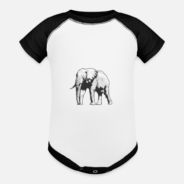 Largest Elephant pachyderm from Africa - Baseball Baby Bodysuit