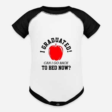 Grade Class Of 2021 Graduated To Bed Now Funny Graduatio - Baseball Baby Bodysuit