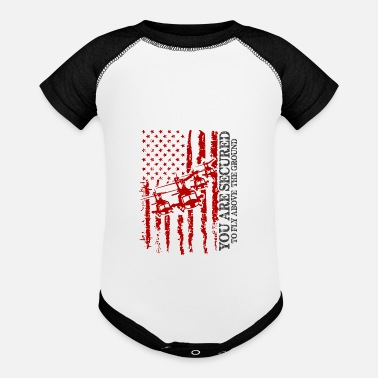 Vietnam Army Veteran YOU ARE SECURED TO FLY ABOVE THE GROUND - Baseball Baby Bodysuit