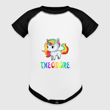 Theodore Unicorn - Baby Contrast One Piece