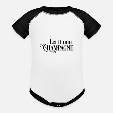 Champagne champagne - Baseball Baby Bodysuit