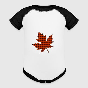 maple leaf - Baby Contrast One Piece