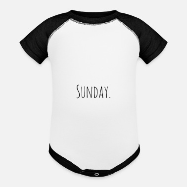Days Of The Week Sunday day of the week - Baseball Baby Bodysuit