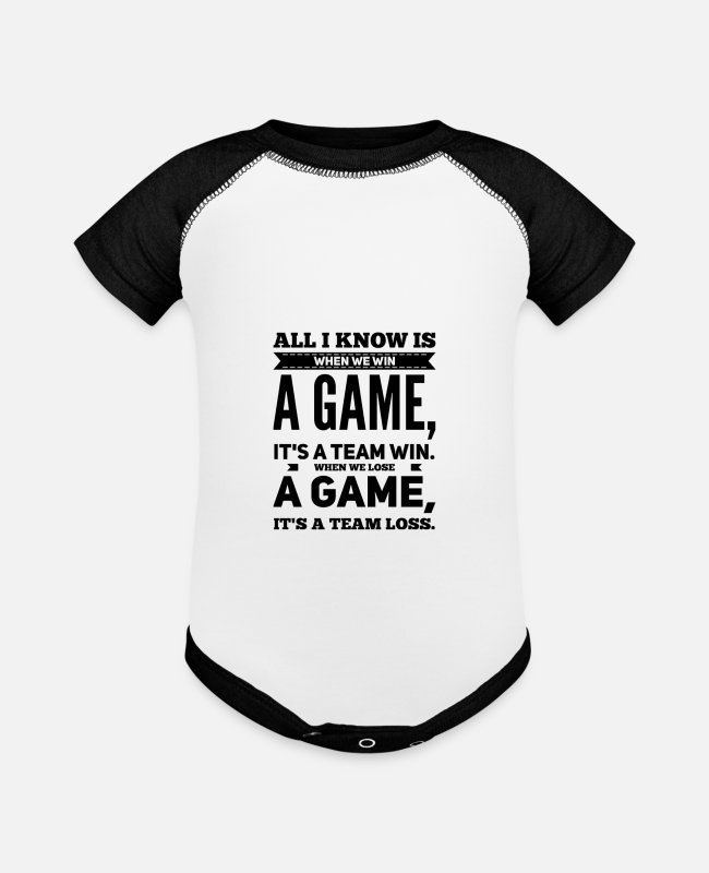 Sport Baby One Pieces - Team Sport Game - Baseball Baby Bodysuit white/black