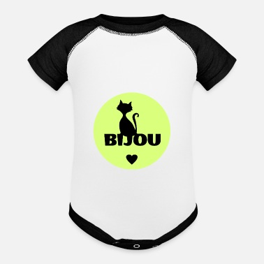 First Name Bijou first name cats name - Contrast Baby Bodysuit