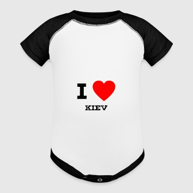 i love Kiev - Baby Contrast One Piece