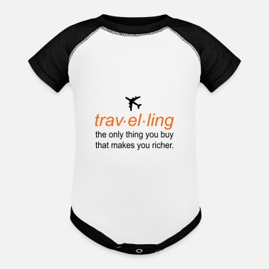 traveling - Baseball Baby Bodysuit
