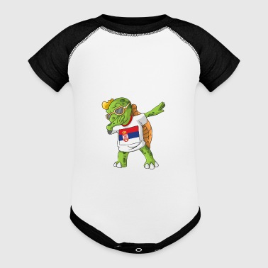 Serbia Dabbing Turtle - Baby Contrast One Piece