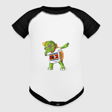 Swaziland Dabbing Turtle - Baby Contrast One Piece