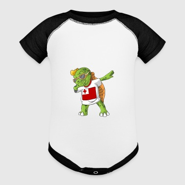 Tonga Dabbing Turtle - Baby Contrast One Piece