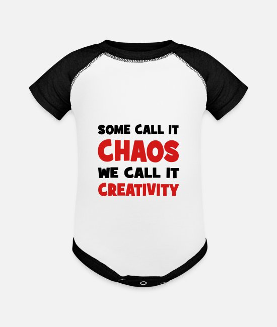 Chaos Baby One Pieces - chaos and creativity - Baseball Baby Bodysuit white/black