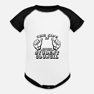 Kid S Humor THIS KID S IN SANBURG HIGH SCHOOL STUDENT COUNCIL - Baseball Baby Bodysuit