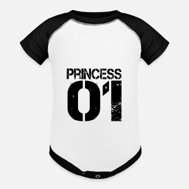 Group King Queen Prince Princess One Familie Group - Baseball Baby Bodysuit