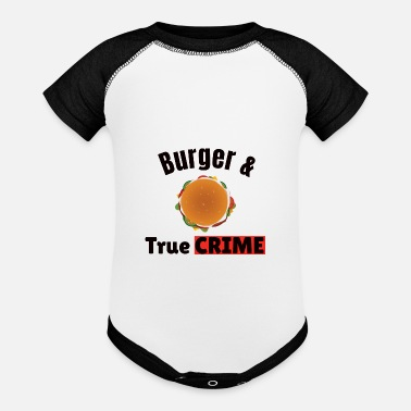 True Crime TRUE CRIME: Burger and True Crime - Baseball Baby Bodysuit