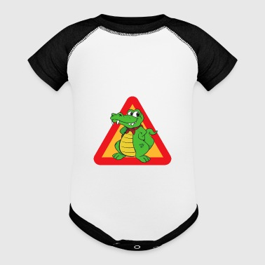 Reptiles Animals - Baby Contrast One Piece