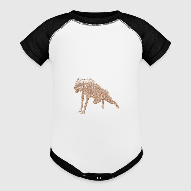 Aggressive Wolf - Baby Contrast One Piece