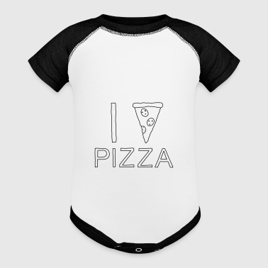 I PIZZA - I heart Pizza - Baby Contrast One Piece