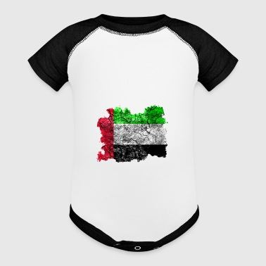 United Arab Emirates Vintage Flag - Baby Contrast One Piece