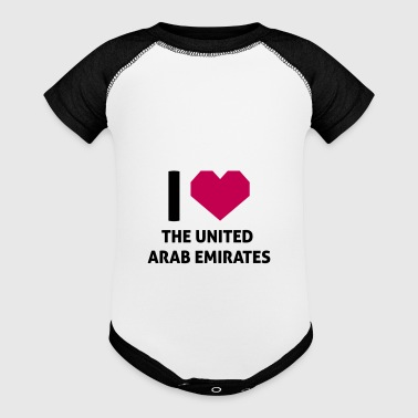 I Love The United Arab Emirates - Baby Contrast One Piece