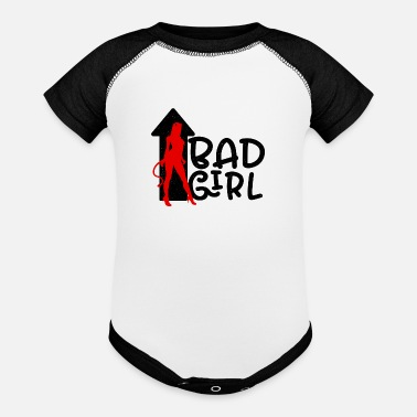 Bad Girls Bad Girl - Contrast Baby Bodysuit
