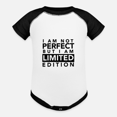 Edition I AM NOT PERFECT BUT I AM LIMITED EDITION - Baseball Baby Bodysuit