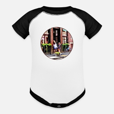 Little Italy Boston MA - Cafe in Little Italy - Baseball Baby Bodysuit