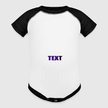 TEXT - Baby Contrast One Piece