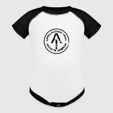 Rustic Appalachian Trail Marker Blk - Baby Contrast One Piece