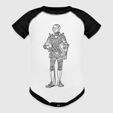 suit of armor front - Baby Contrast One Piece