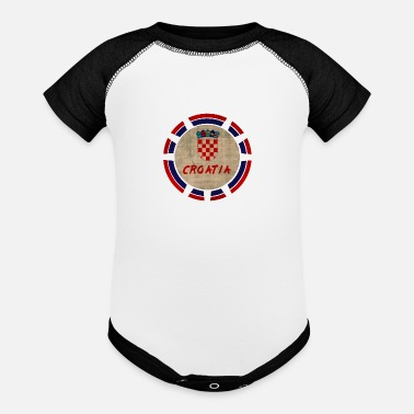 Croatia Croatia District Vintage Design / Gift - Contrast Baby Bodysuit