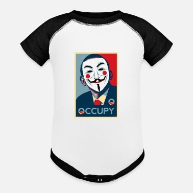 Occupy Anonymous occupy - Contrast Baby Bodysuit