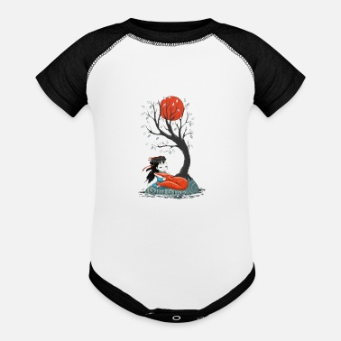 Girl and a Fox 2 - Baseball Baby Bodysuit