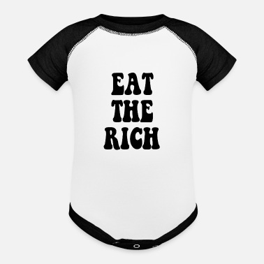 Occupy Wall Street Eat the Rich Occupy Wall Street - Baseball Baby Bodysuit