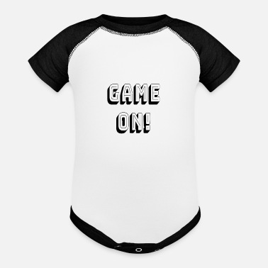 Gameboy game on - Contrast Baby Bodysuit