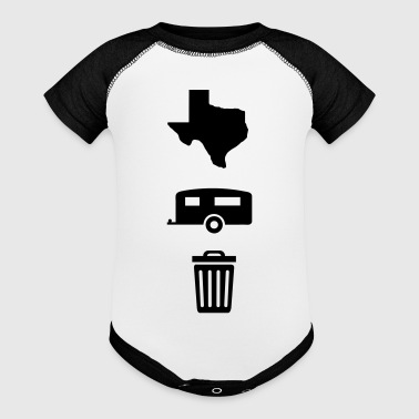 Texas Trailer Trash (Icons - Vertical/Dark Color) - Baby Contrast One Piece